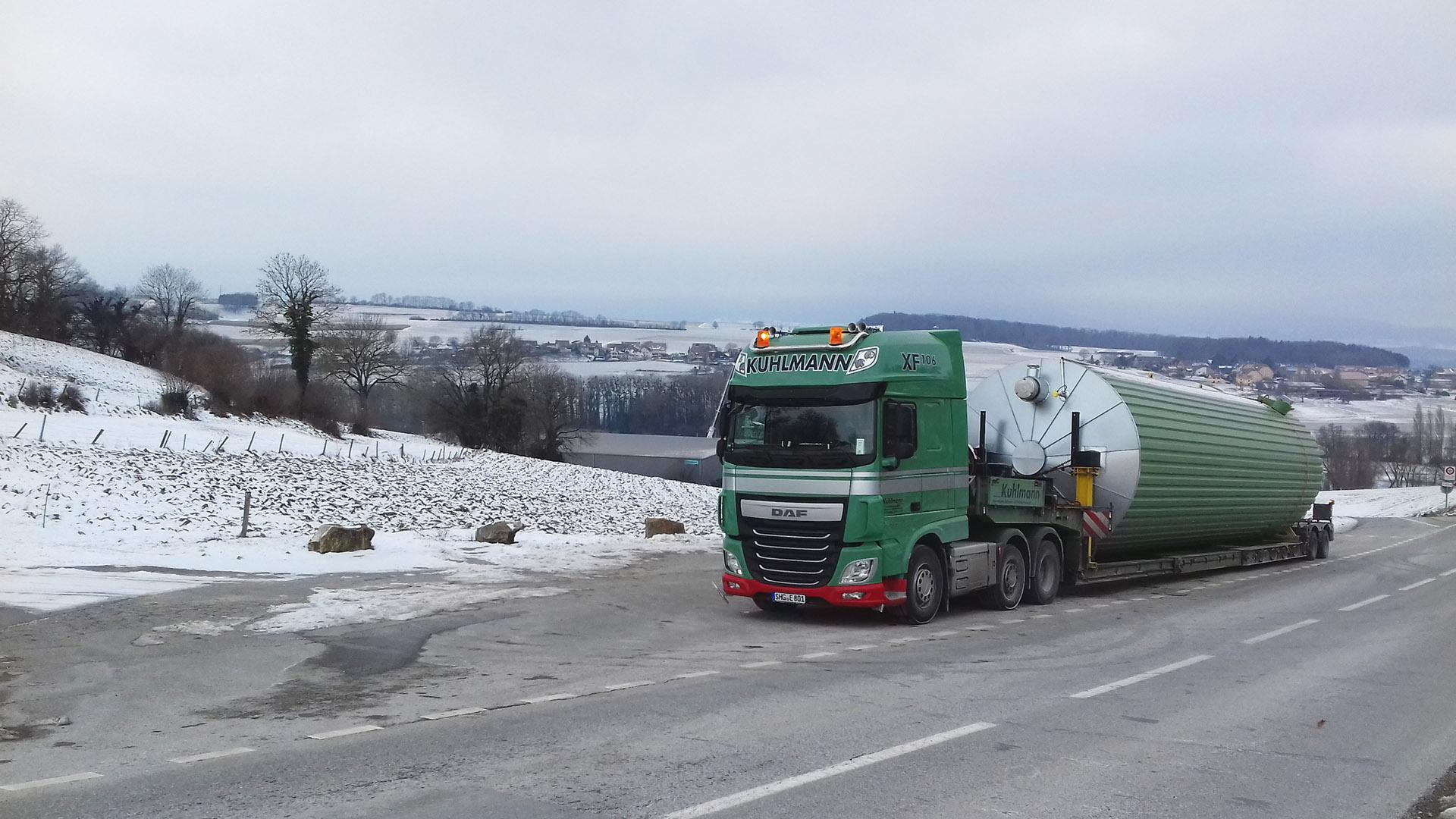 Schneller Transport trotz Übermaße